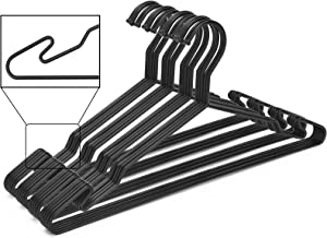 Luxurious Hanger Set – Heavy Duty Metal Hangers with Unique Hook Design –Durable & Sturdy Coat Hangers – 4mm Thick – Withstands 25lbs Weight – Smooth Powder Coated Finish – Compact Shirt Hangers
