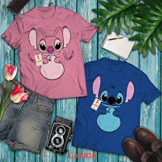 LAZIDA Angel Animal Couple Matching Halloween Costume BFF Bestie Twins Cosplay T-Shirt | Hoodie | Tank Top | Sweatshirt | Long Sleeve