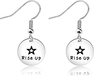 MAOFAED Hamilton Broadway Musical Inspired Gift Inspirational Gift Rise Up Earring Theater Jewelry Gift for Her
