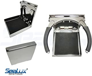 SeaLux Stainless Steel Adjustable Fold Down cup, drink and Mug Holder for boat, car 3