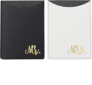 mr and mrs leather passport holders