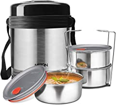 Milton Legend3 Lunch Box Tiffin Insulated Stainless Steel, Silver