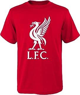 English Premiership Liverpool Male Mohamed Salah Name Short Sleeve Tee, Red, Youth Medium(10-12)