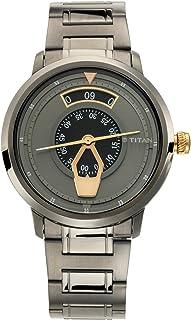 ساعة تيتان ماريتايم للرجال مينا رمادية - 1828KM01