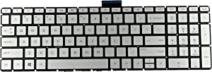Replacement Keyboard for HP 15-DY 15-BW 15-BS 15-BP 15-BR 17-AK, HP 250 G6 255 G6 256 G6 Series, HP 15-DY2021NR 15-BS212WM 15-BS033CL 15-BW032WM 17-BS020NR 17-AK051NR Laptop with Backlit - Sliver