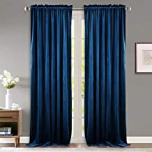 StangH Soundproof Velvet Curtain Drapes - 96 Inches Pole Top Luxury Velvet Curtains Thermal Insulated Blackout Window Trea...
