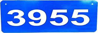 Granite City Graphics Horizontal Blue 911 Sign with 2.5