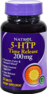 Natrol 5-HTP Time Release, 200mg, 30 Tabs (Pack of 4)
