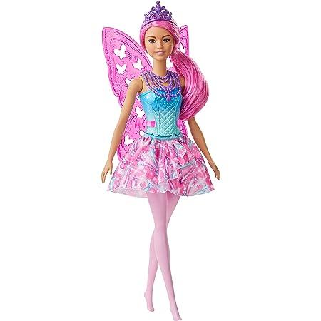 Barbie - Dreamtopia Fatina Bambola con Capelli Rosa, Ali e Coroncina, Giocattolo per Bambini 3+ Anni, GJJ99