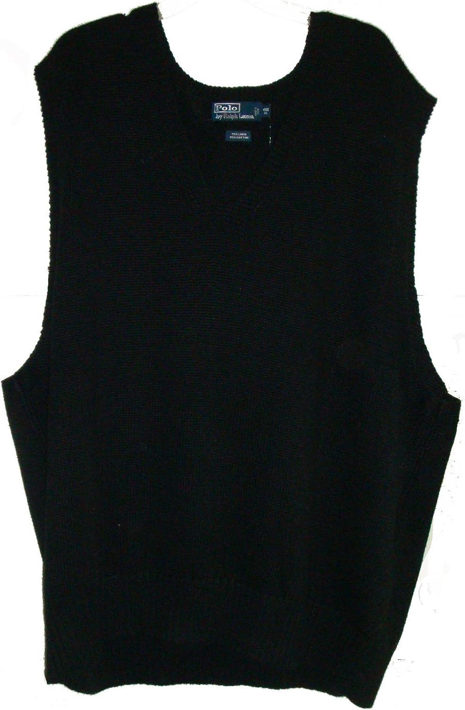 Polo Ralph Lauren Men's Outerwear Vest, Size 4XBTall, Black)