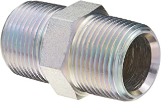 Dixon 5404-12 Zinc Plated Steel Hydraulic Pipe Fitting, Hex Nipple, 3/4