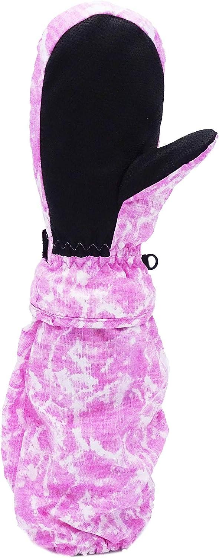 L-Bow Girls Galaxy Pink Long Gauntlet Winter Mitten