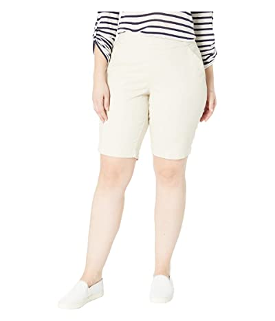 Jag Jeans Plus Size Gracie Pull-On Bermuda Shorts (Stone) Women