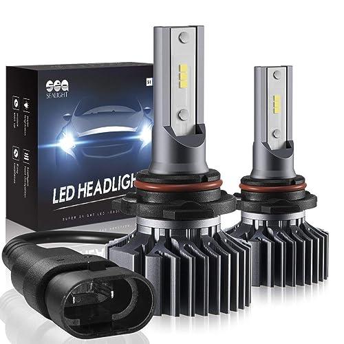SEALIGHT 9005 HB3 LED Headlight Bulbs High Beam Conversion Kit,Non-Polarity,Upgraded