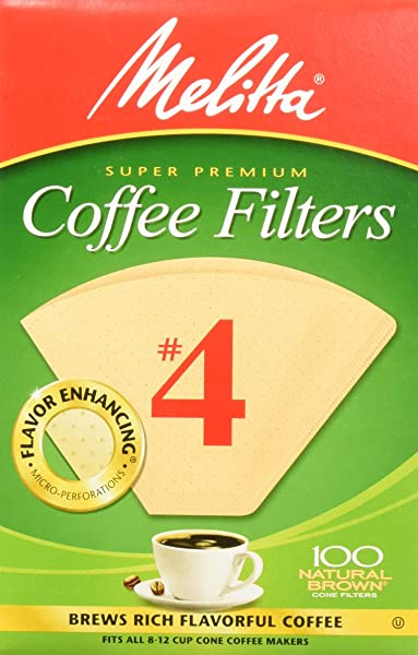 Melitta 4 Cone Coffee Filters Natural Brown 4 100 Count