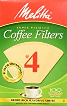 Melitta Number 4 Coffee Filters, Natural Brown, 100 Count