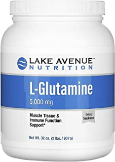 Lake Avenue Nutrition L-Glutamine Powder, Unflavored, 5,000 mg, 32 oz (907 g)