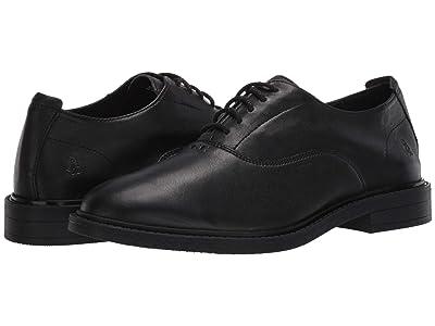 Hush Puppies Davis Oxford PF (Black Leather) Men