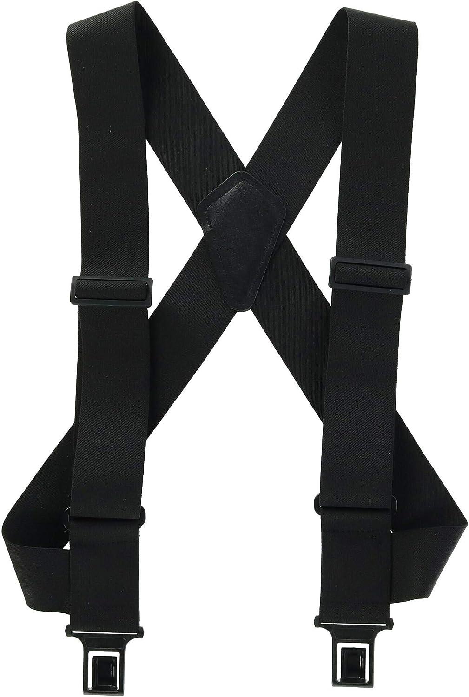 Perry Suspenders Men's Elastic Outback Side Clip Trucker Suspenders