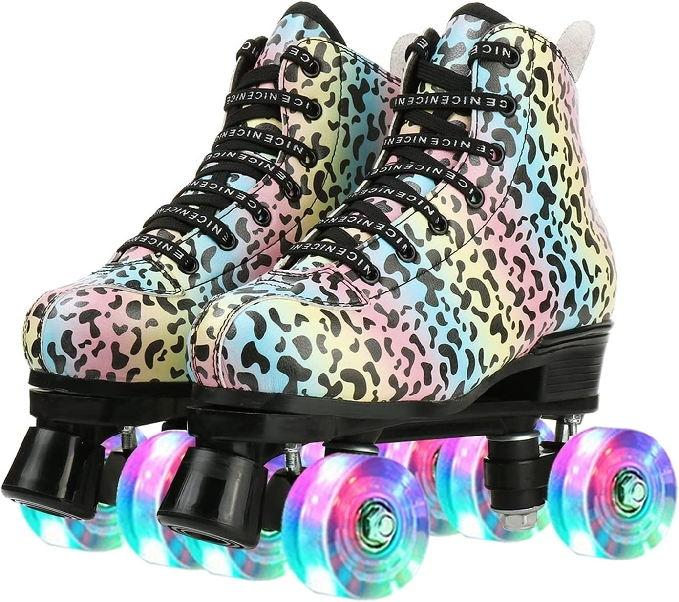 Roller Skates A Al sold out. surprise price is realized Outdoor Speed P Stylish Leopard Cozy