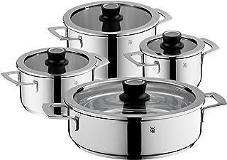 WMF 778046380 Vario Cuisine-Batería de Cocina de 4 Piezas con termómetro Integrado, Acero Inoxidable, 1.9 litros, Cromargan
