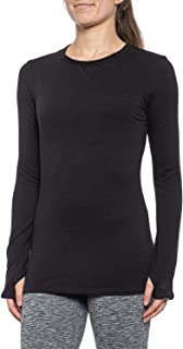 Cuddl Duds Comfortwear Cozy Comfort Long Sleeve Crew with Thumbholes