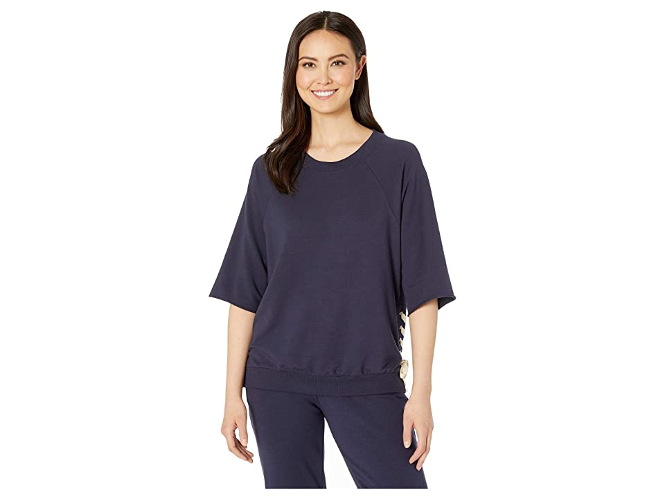 Eberjey Mason The Lace-Up Top (Indigo Sea) Women