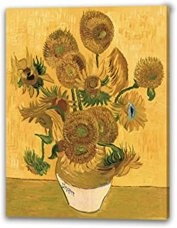 ゴッホ 『ひまわり』アートパネル 油絵風景画 複製名画 MDF木枠 アートポスター 印象派 モダンアート 壁掛け絵画 現代 壁飾り ギフトボックス付き 装飾画(30x40cm)