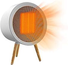 HYISHION Portátil Calefactor Eléctrico, Mini Calentador de Ventilador, Personal Ventilador Calefactor Eléctrico PTC Cerámica, Calefactor Aire Frio y Caliente para Hogar Oficina
