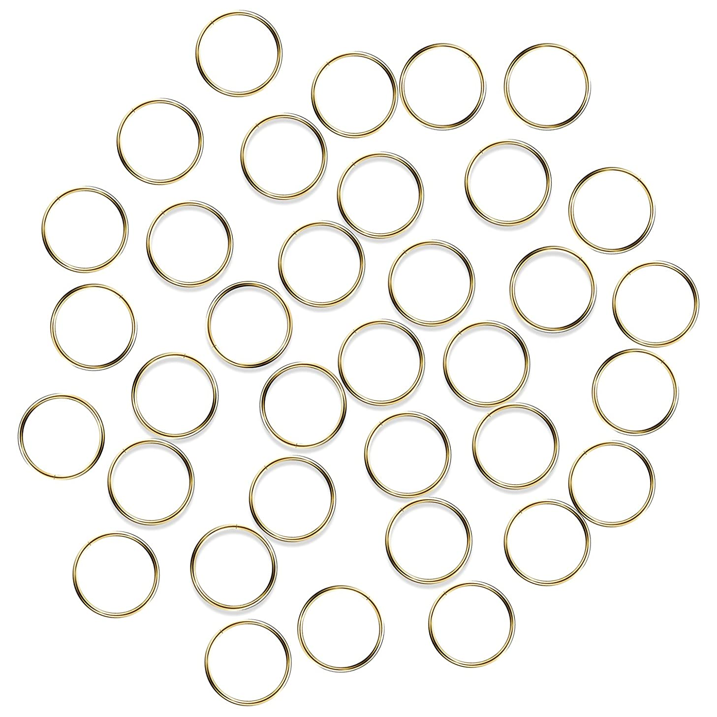 Fushing 100Pcs Stainless Gold Color Split Rings, Crystal Chandeliers Connectors for Chandelier, Curtain,Suncatchers, Crystal Garland,Necklaces, Keys, Earrings, Jewelry Making (Gold, 14mm)