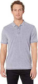 True Grit Men's Bowery Burnouts Short Sleeve Vintage Washed Polo