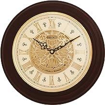 SEIKO Wood Wall Clock (31 x 31 cm, Brown)