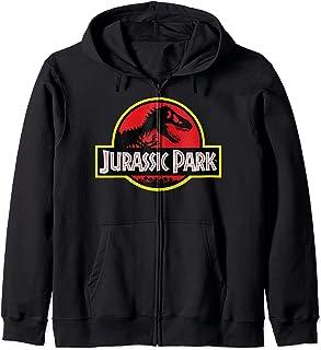 Jurassic Park Distressed Vintage Logo Sweat à Capuche
