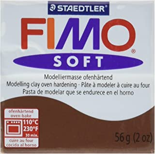 STAEDTLER Fimo Soft Polymer Clay 2 ounces-8020 – 75 Chocolate