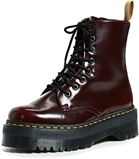 Dr. Martens Vegan Jadon II 8 Eye Cambridge Brush Cherry Red