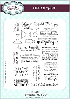 Creative Expression Sue Wilson A5 Clear Stamp Set - CEC881 Cheers To You