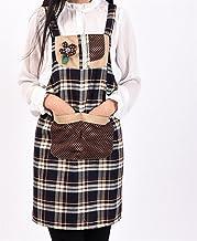 Apron Designs Fashion Apron Home Lattice Apron with Pocket (Coffee)