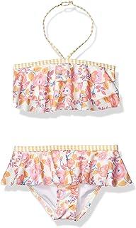 Heart And Harmony Girls Bandeau Bra Top and Ruffle Hipster Bottom Bikini Swimsuit Set