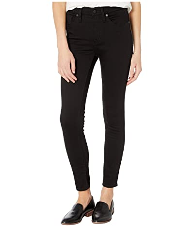 Madewell 9 Mid-Rise Skinny in Black Frost (Black Frost) Women