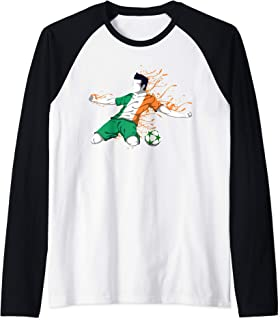 Ireland National Soccer Team Jersey Irish Football Gifts Raglan Baseball Tee