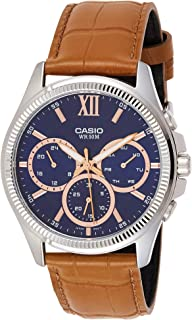 Casio Men's Dial Leather Band Watch - MTP-E315L-2AVDF