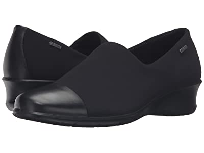 ECCO Felicia GTX Slip-On (Black/Black) Women