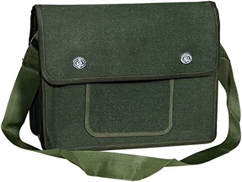 high quality Larcele 13.7 outlet online sale Inch Tool Storage Bag, Thicken Canvas Plumber Electrician Shoulder Bags Organizer, sale Multifunctional Repair Tool Bag WJSNB-08 online sale