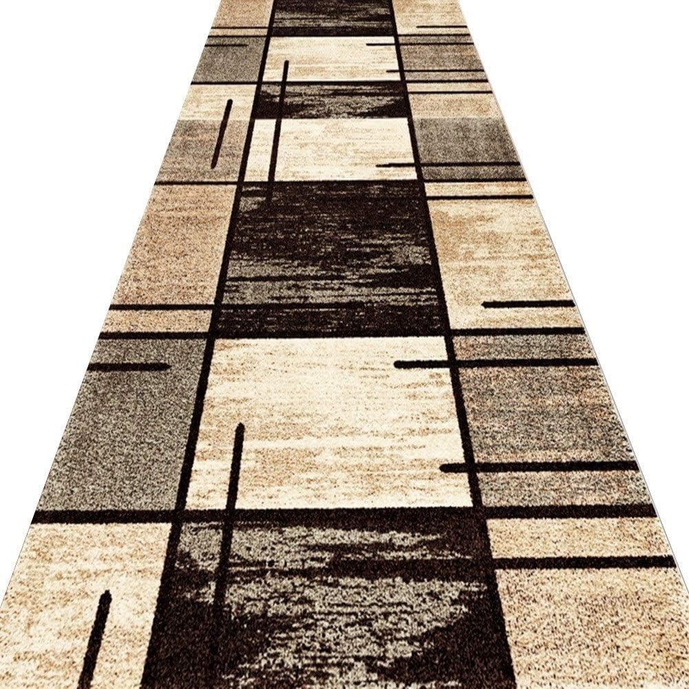 Flur Teppich,teppichlaufer L/äufer Teppiche Flur Teppich Korridor Teppich Eingang Matte Geometrische Muster Haushalt Abstrakter Stil Verschlei/ßfest Waschbar Gr/ö/ße Kann Besonders Angefertigt Werden