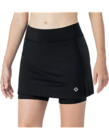 HonourSport Donne Gonna da tennis con pantaloncini tasca laterale
