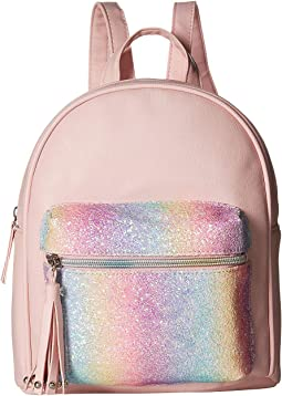 Backpack with Rainbow Glitter Pocket