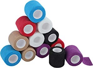 SUPERBE Venda cohesiva de 5 cm x 4.5 m, Vendas autoadhesiva para esguinces e hinchazón, Suministros Médicos de Primeros Auxilios para Protección Deportiva (Multicolor)