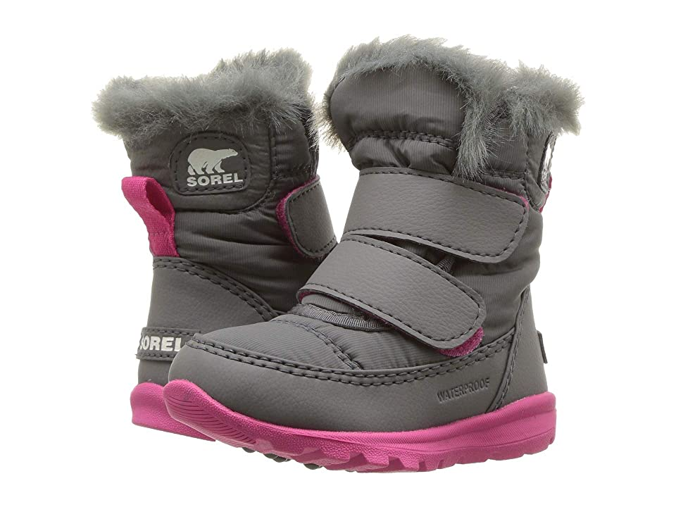 SOREL Kids Whitneytm Strap (Toddler) (Quarry/Ultra Pink) Girls Shoes