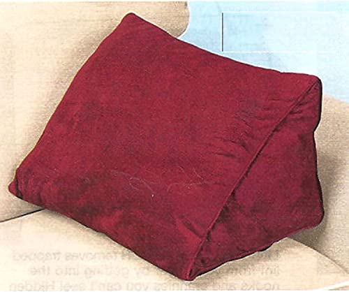 """WEDGE PILLOWS 18"""" with Removable Cover - Burgundy"""