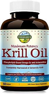 Aceite de krill de Terranics con Omega3s DHA y EPA, fosfolí